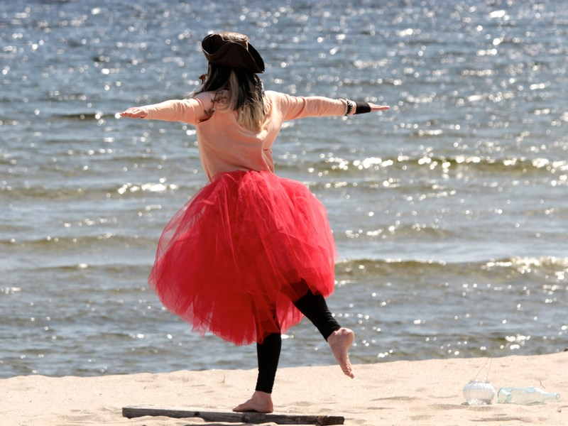 lifting a leg holding balance